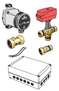 NIBE PCS 44 модуль пассивного охлаждения для F1145\F1245