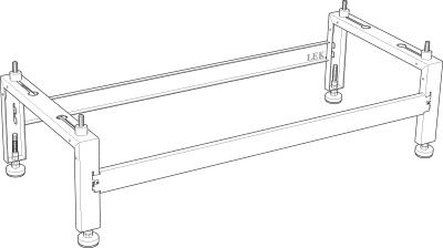 Кронштейн напольного крепления Ground bracket for NIBE F2040