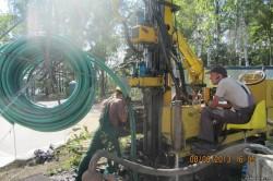 Установка геотермального зонда